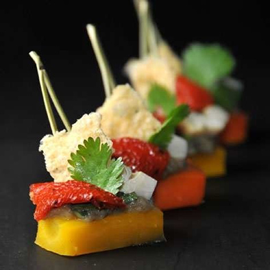 Finger carotte, tapenade et tomates confites