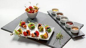 Buffet gourmand salé pour vos cocktails et vin d'honneur : traiteur mariage à Paris
